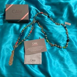 "NEW CAbi ""Mix & Mingle "" Tassel necklace"
